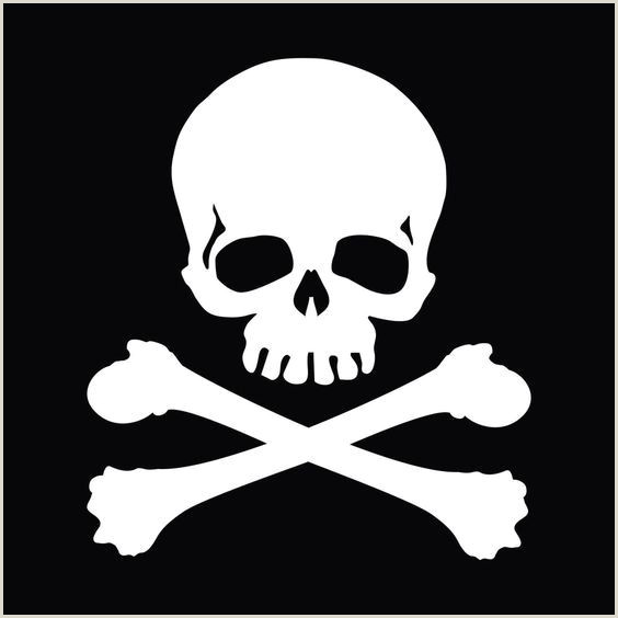 Jolly Roger Skull Crossbones Car Body Window Bumper Vinyl