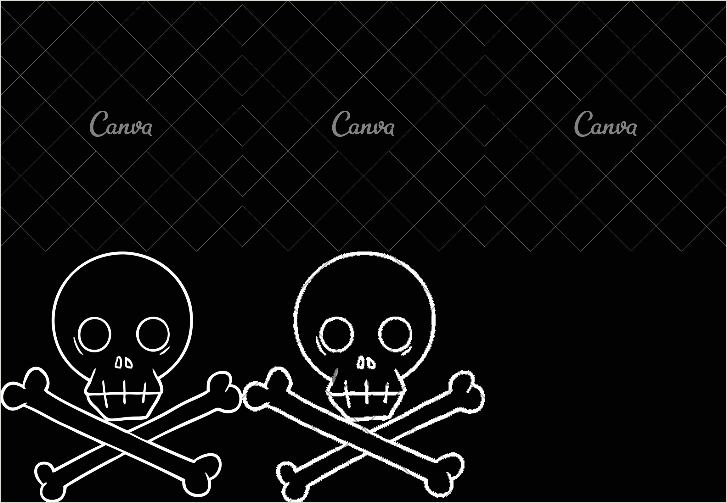 Skull and Crossbone Stencil Skull and Crossbones Icons by Canva