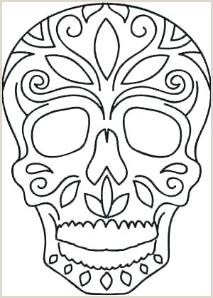 Skull and Crossbone Stencil Small Skull Template