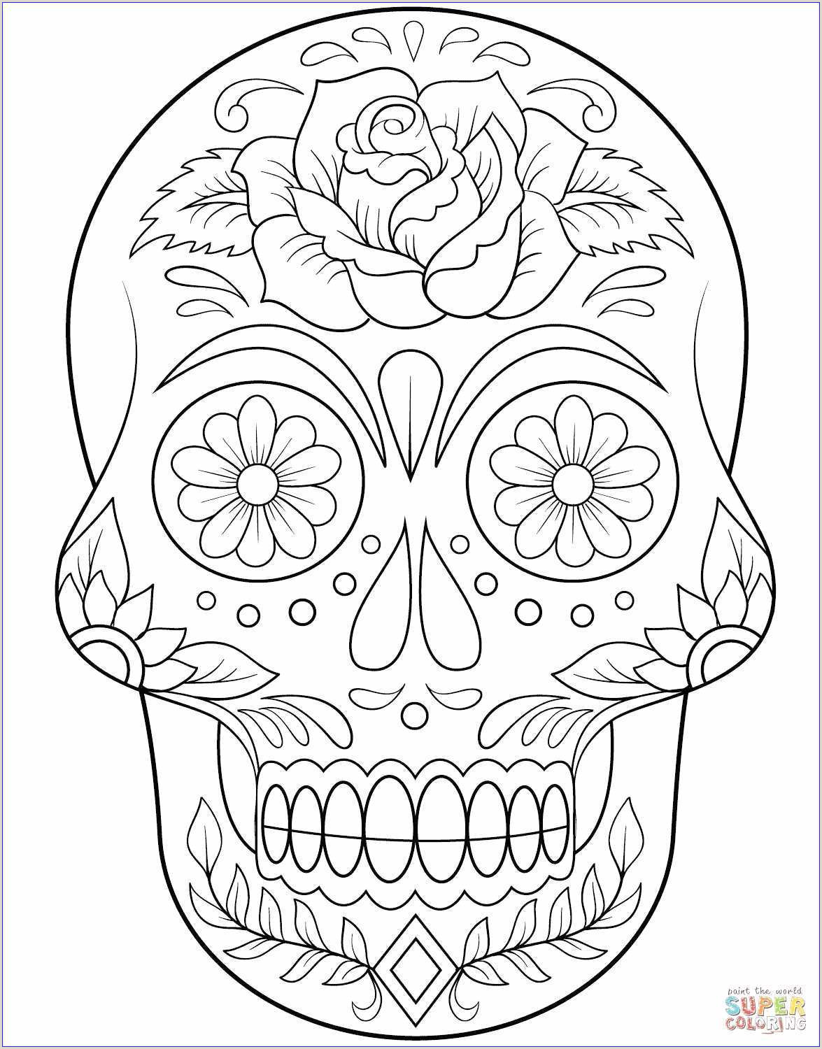 Skull and Crossbones Template Of Skull Tree Coloring Pages Sabadaphnecottage