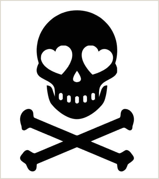 Skull Cross Bones Heart Eyes Jolly Roger Vinyl Sticker Decal