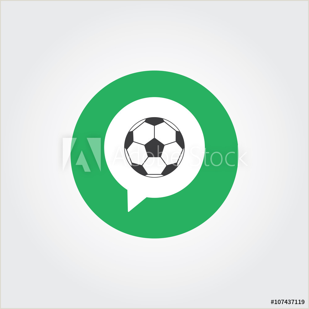 Soccer Crest Template Fotografija soccer Ball Chat Icon Logo Template Na