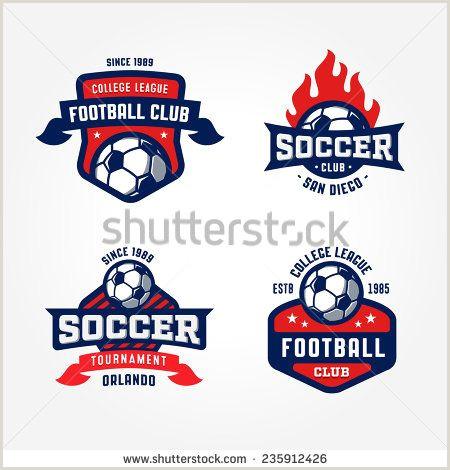 Soccer Crest Template Set Of soccer Football Badge Logo Design Templates