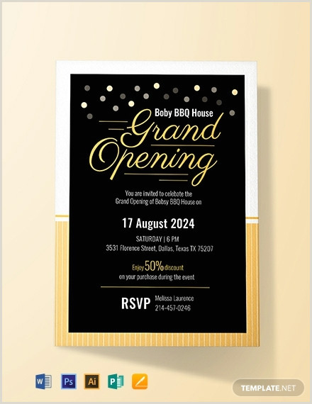 FREE Grand Opening Invitation Card Template Word