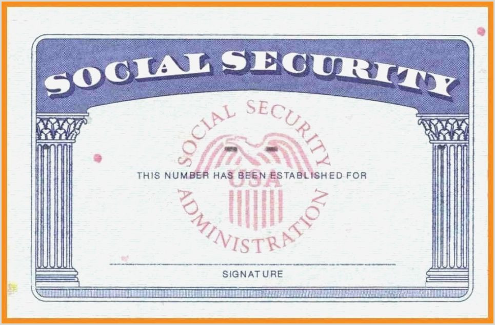 Impertinent Printable Social Security Card Template