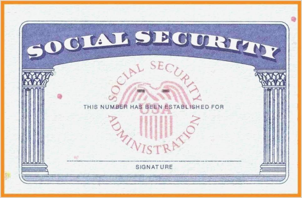 Social Security Card Template Photoshop Impertinent Printable social Security Card Template