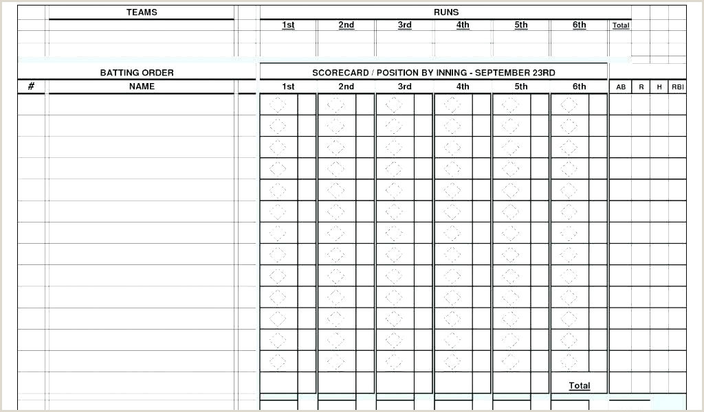 Softball Batting Lineup Template Fresh softball Lineup Template Excel Baseball Field