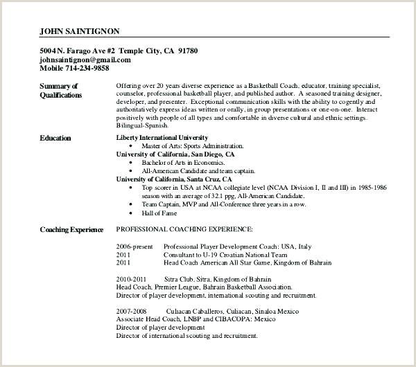 basketball resume template for player – chanceinc