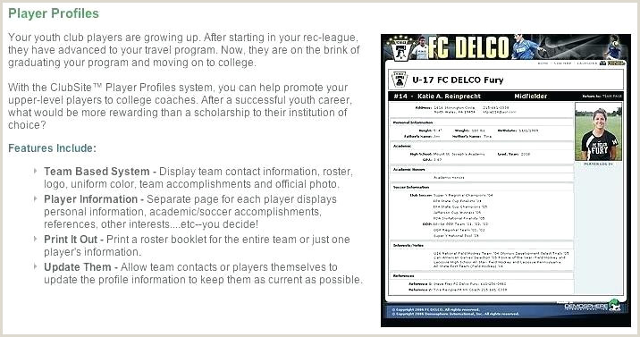 Softball Coach Resume soccer Player Template Profile Download Football Players
