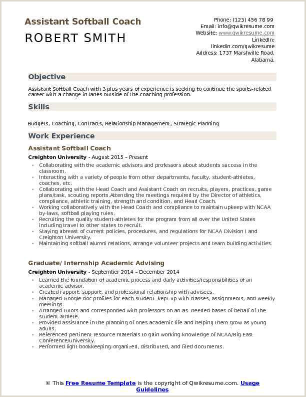 Softball Coach Resume Sports Coach Resume Examples thewhyfactorco