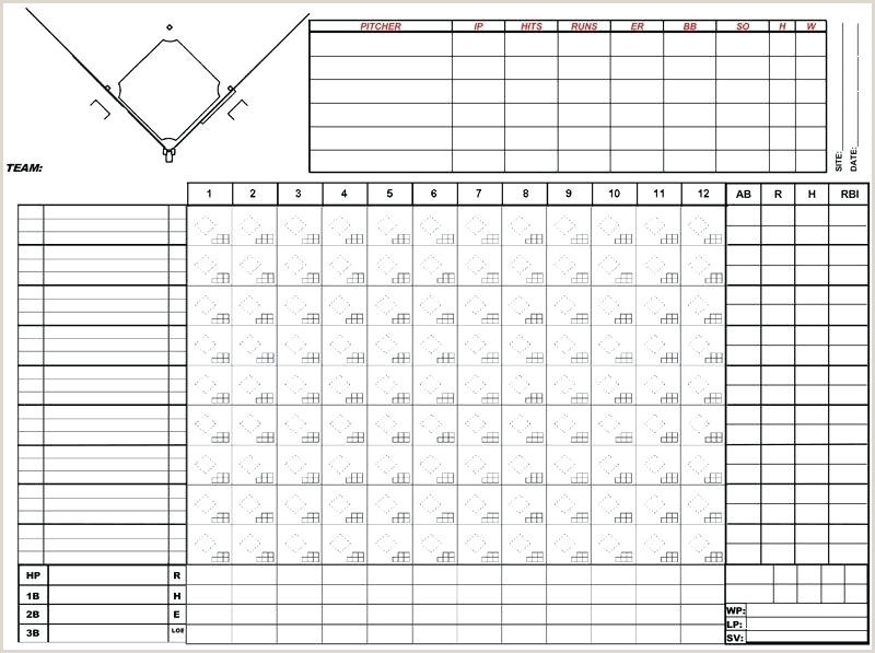 Softball Scorebook Pages Pdf Easy Baseball Score Sheet – Gdwebapp