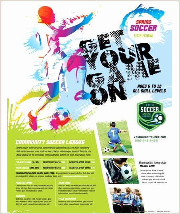 Youth Brochure Template Free Admirable Youth soccer Bi Fold