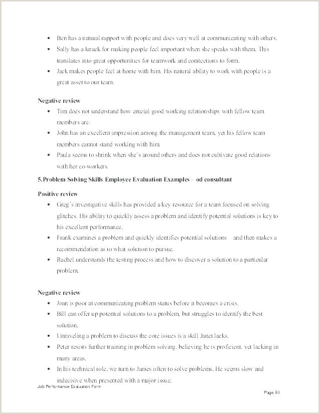 Employee Performance Review Template Word Lovely Software