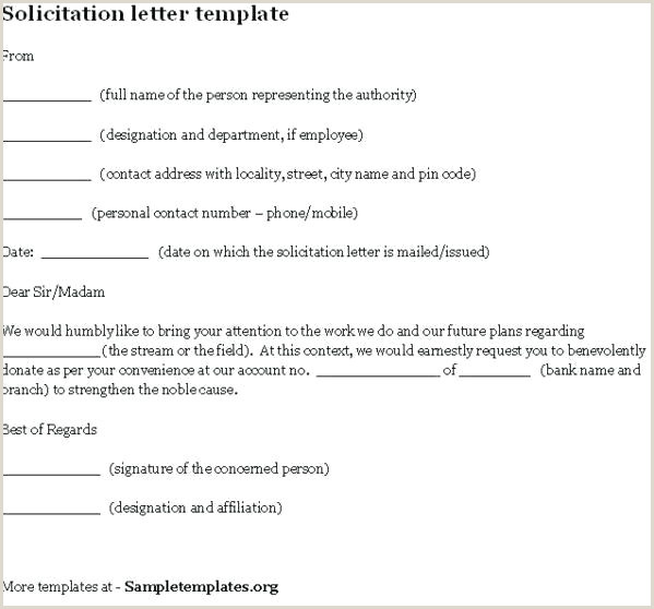 solicitation template