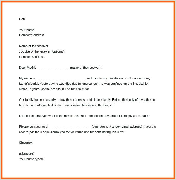 7 Deceased Letter Template Solicitation For Donations Death