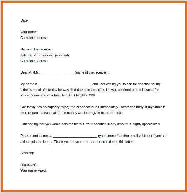 Solicitation Letter for Death 7 Deceased Letter Template solicitation for Donations Death