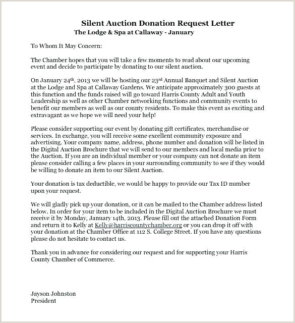 Solicitation Letter for Death Donation Request Letter Template Auction Item Silent