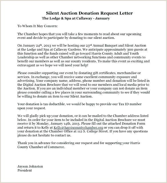 Donation Request Letter Template Auction Item Silent