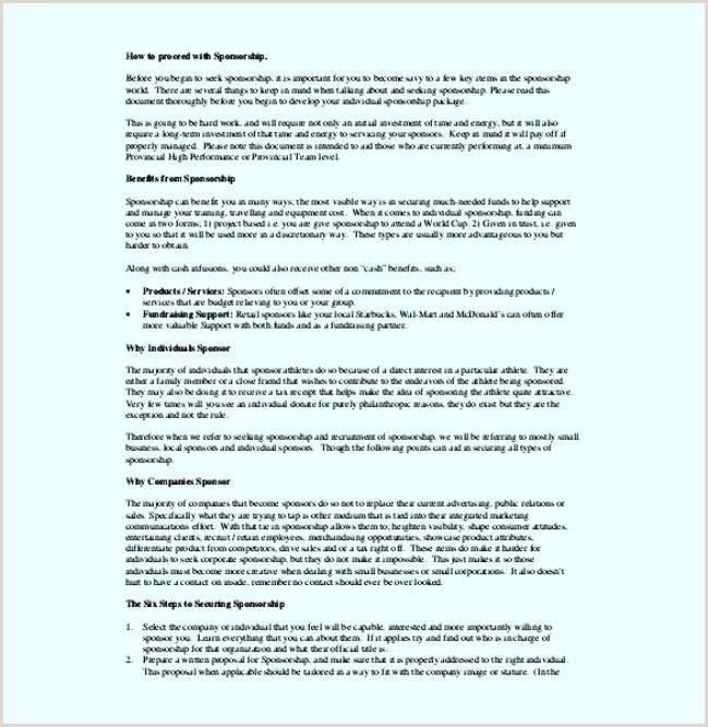 Sponsorship Letter for Individual athlete Fighter Sponsorship Proposal Template