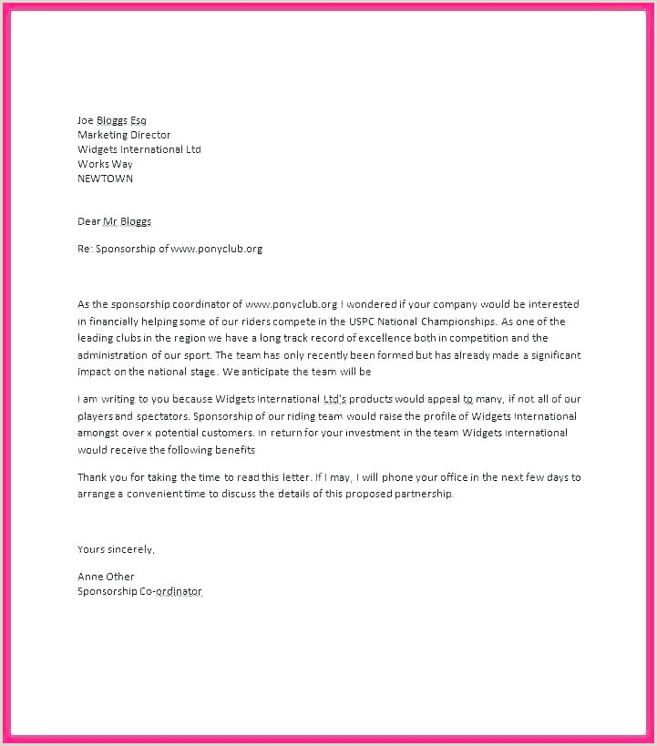 youth baseball sponsorship letter template