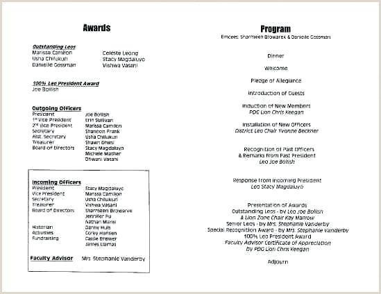 Banquet Program Template Ideal Football Smart s With