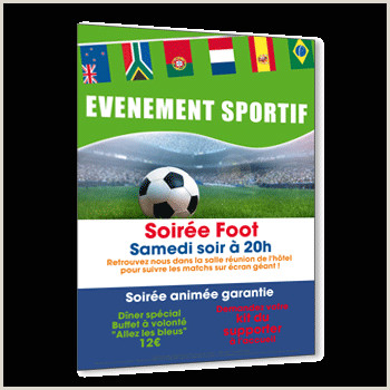 Sports Banquet Invitation Template Flyer Invitation événement Sportif A5 Recto