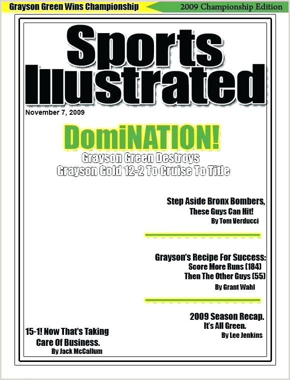 Sports Illustrated Cover Template Photoshop Neon Green Tennis Balls Sports Magazine Cover Template Psd