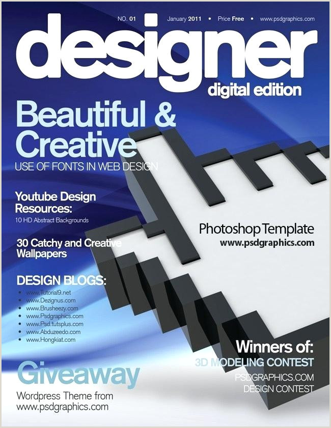 photoshop magazine cover template