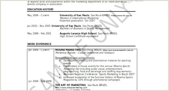 Sports Resume Template Athletic Resume Template Simple