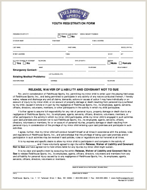 Printable youth sports waiver form Edit Fill Out