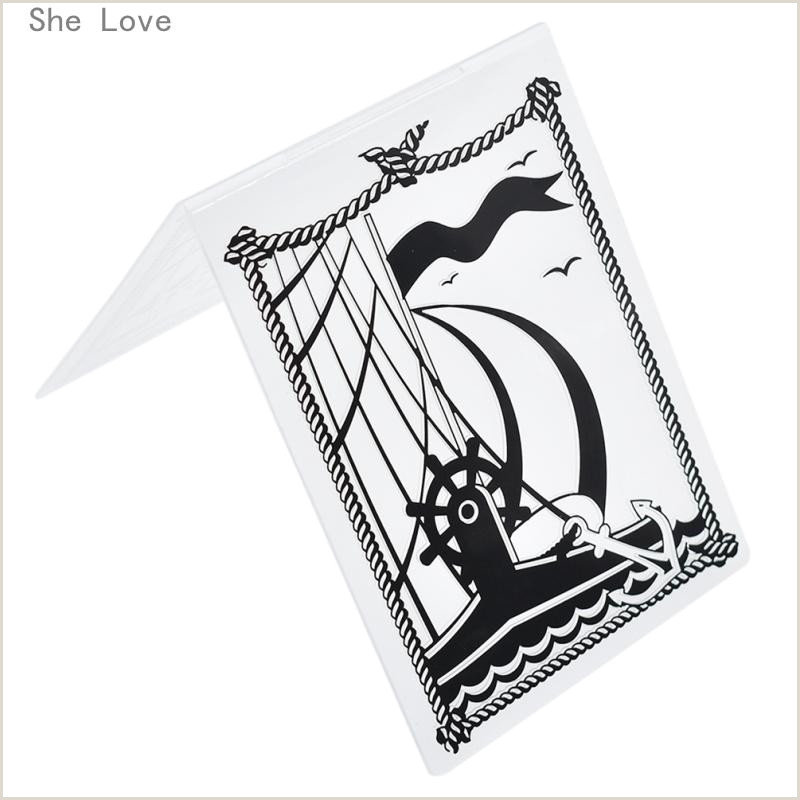 Stamp Card Template He Love Sailing Boat Plastic Template Embossing Folder for Scrapbooking Album Paper Card Craft Card Making Decoration She Love Sail