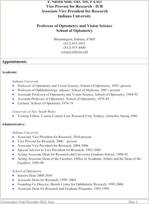 Standard Academic Cv format Lecturer Cv Template – Entrerocks
