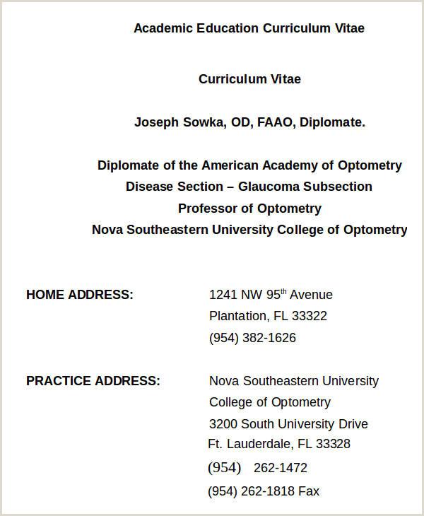 73 Curriculum Vitae Sample format