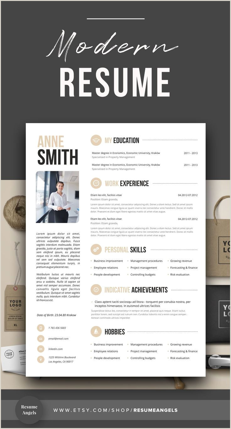 Professional Resume Template Clean & Modern Resume Template