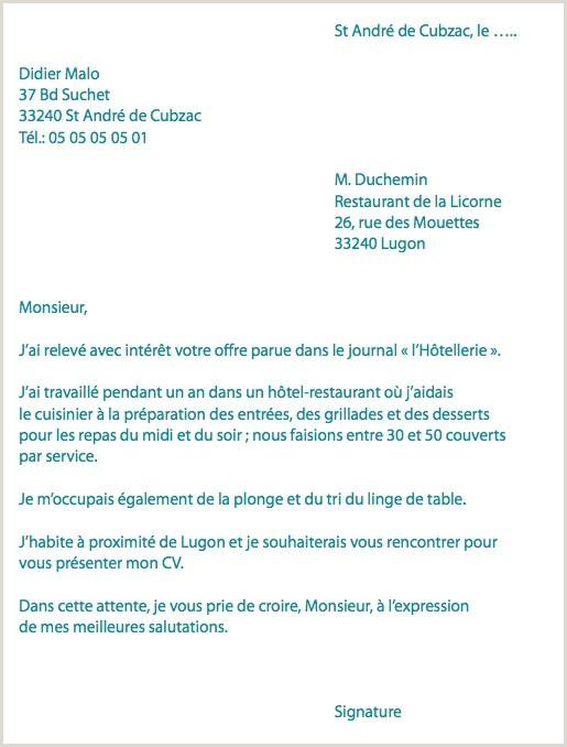 Lettre De Motivation Cuisine Best Blatte De Cuisine Elegant Od