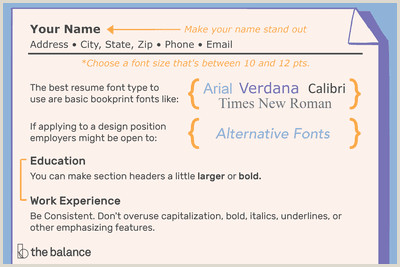 Standard Cv format Bd Doc the Best Font Size and Type for Resumes