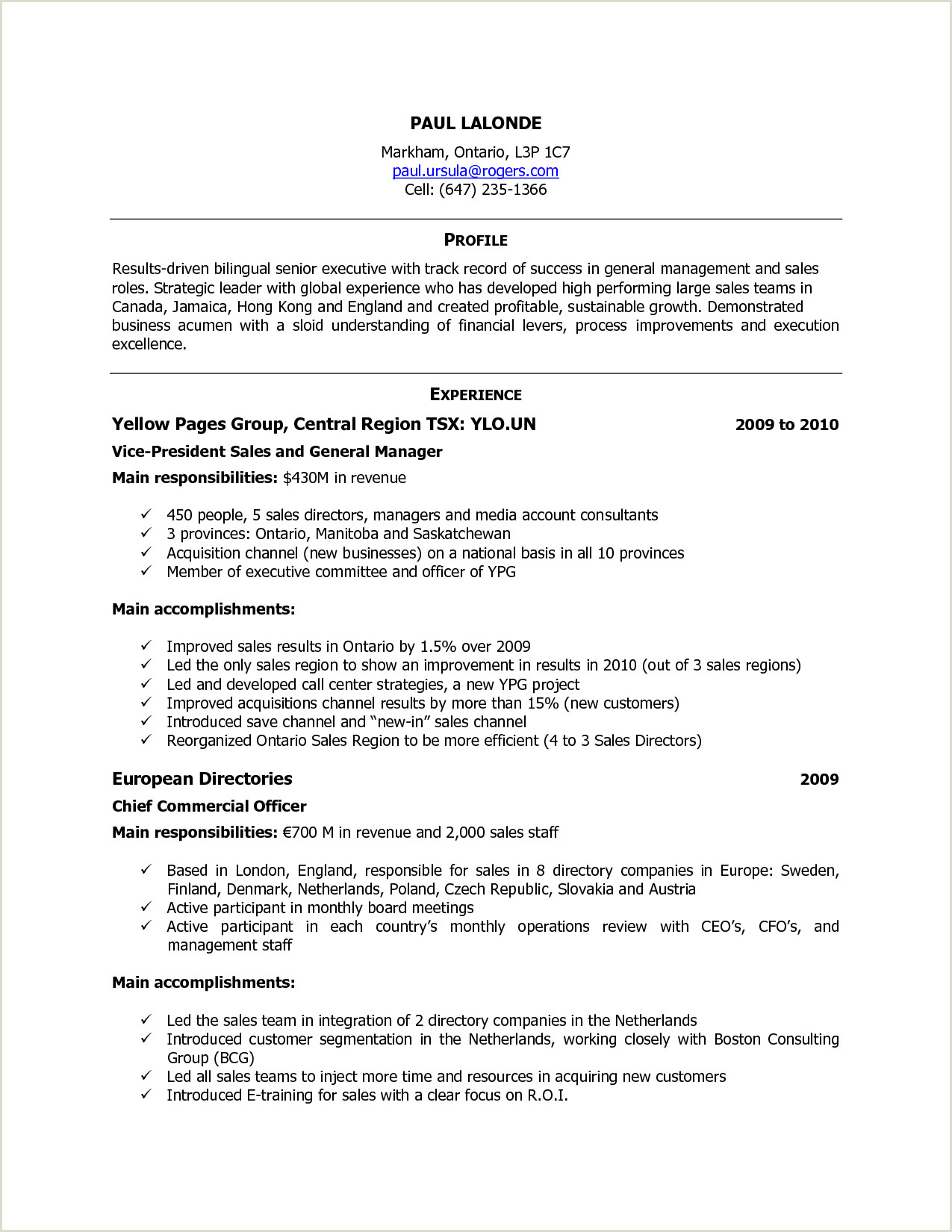 Standard Cv format Canada Free Resume Templates Canada Workout