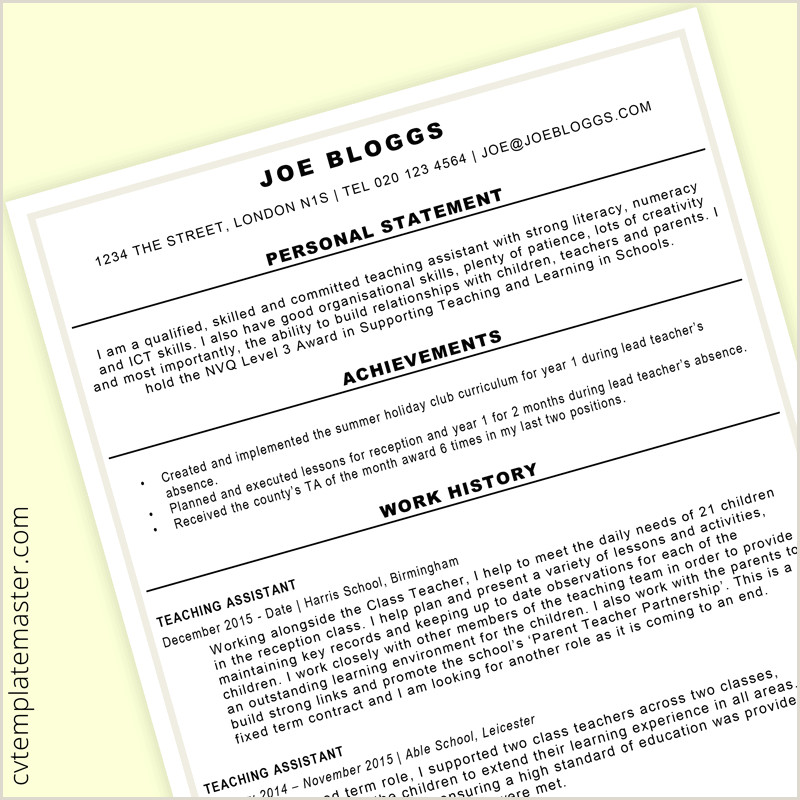 Free teacher CV template collection edit in MS Word