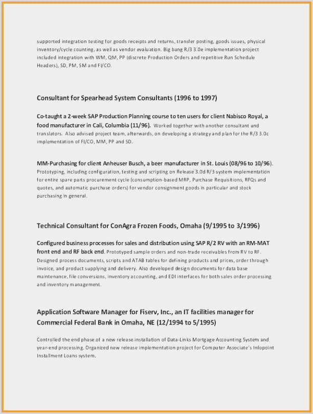 Standard Cv format for Accountant Modern Cv Template Libre Modern Cv Template with