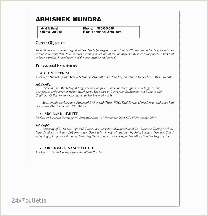 Standard Cv format for Bank Job Cc Cv Gratuit Consulting Resume Template Unique Cv Template