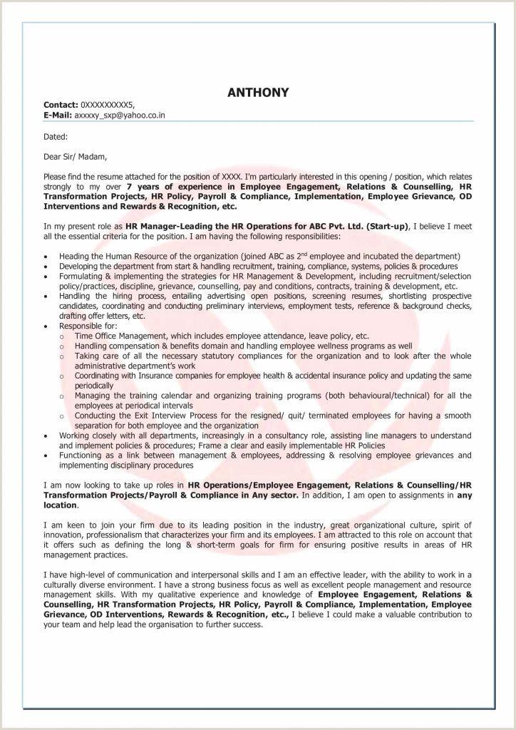 Standard Cv format for Bank Job Sample Resume for Bank Jobs Pdf Valid Experience Resume