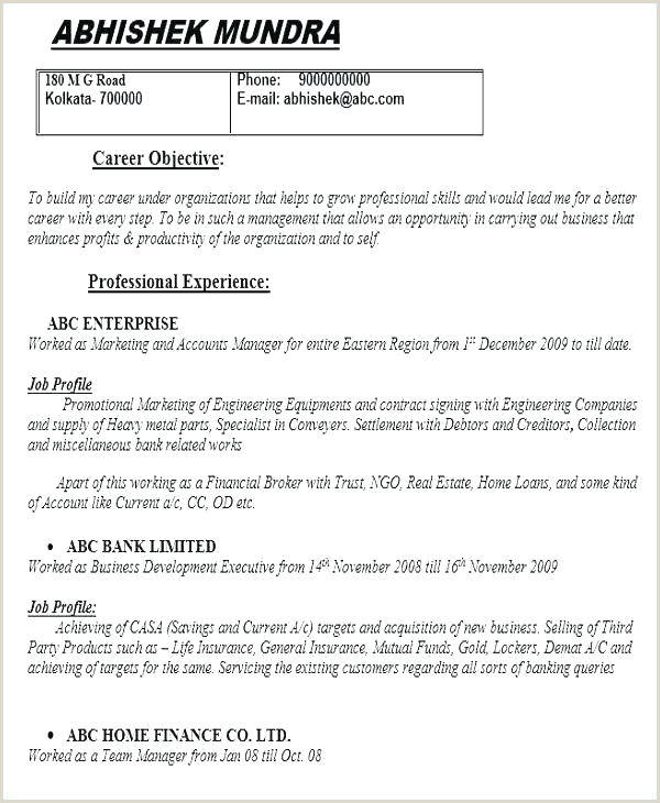 Sample Templates Doc Template Cv Resume 2018 – altwell