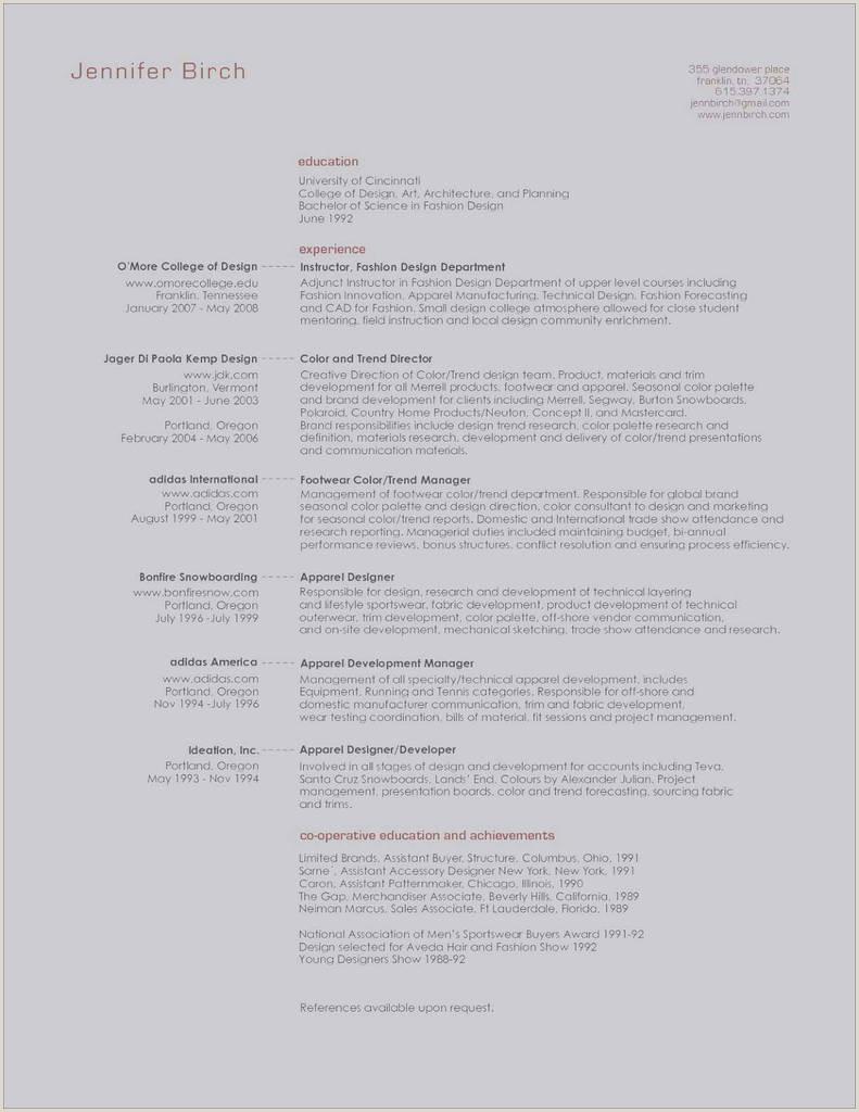 Standard Cv format for Garment Merchandiser Exemple Cv Design Unique Image Pour Cv Exemple Cvs Resume