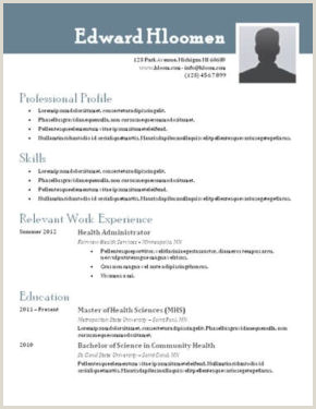Standard Cv format for It Professional 400 Free Resume Templates & Cover Letters [download]