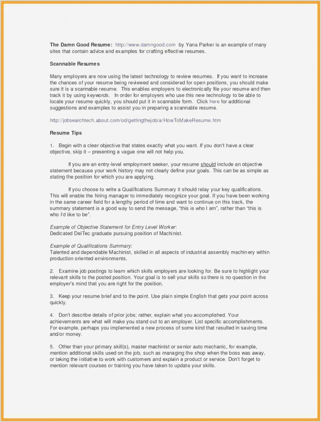 No Experience Resume Examples Professional Personal