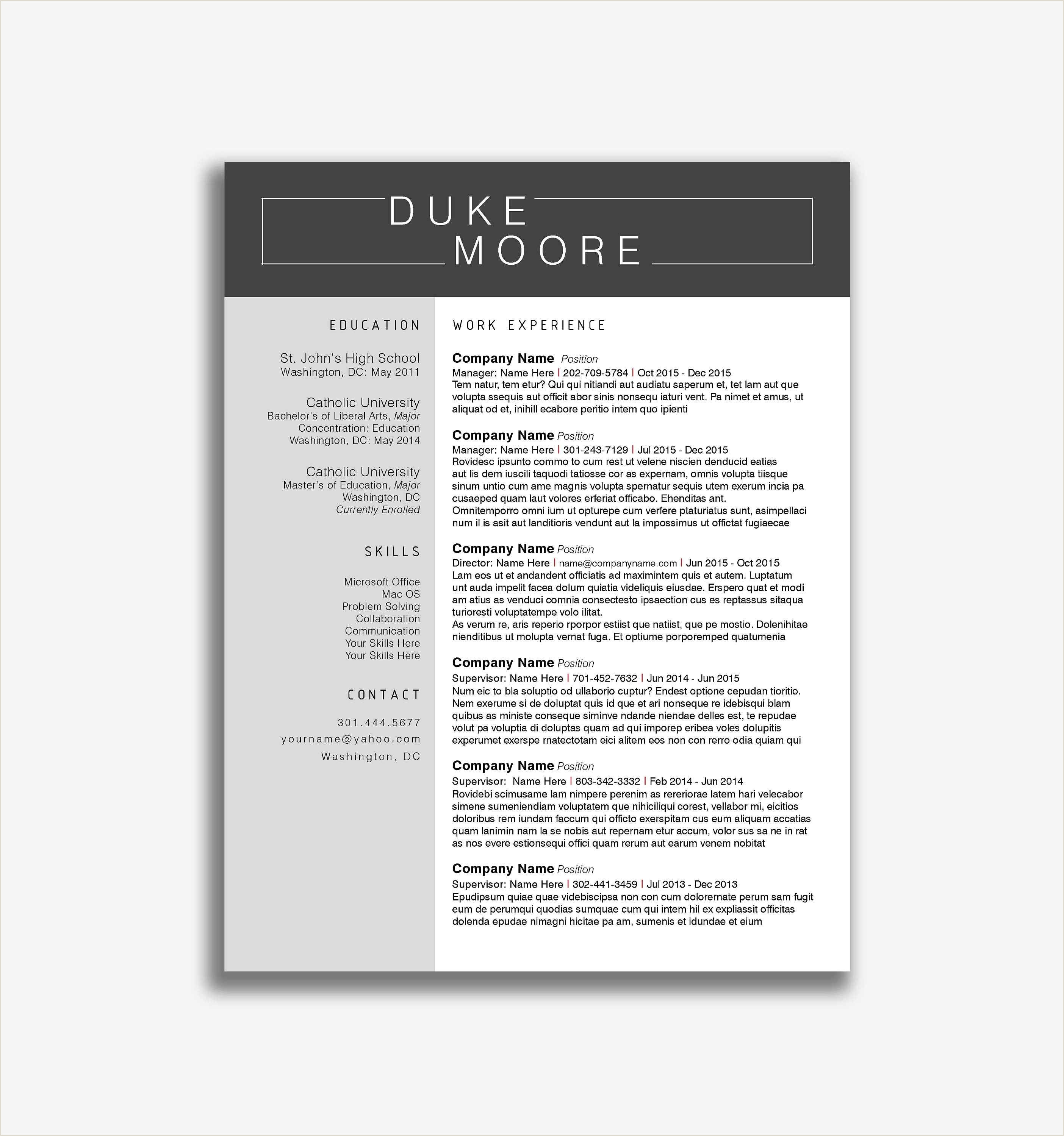 Sample Resume Format For Experienced It Professionals Valid