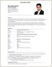 Standard Cv format for Job Standard Cv format Bangladesh Professional Resumes Sample