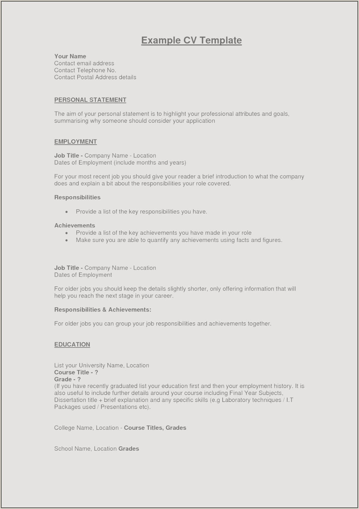 Unique Making A Good Resume