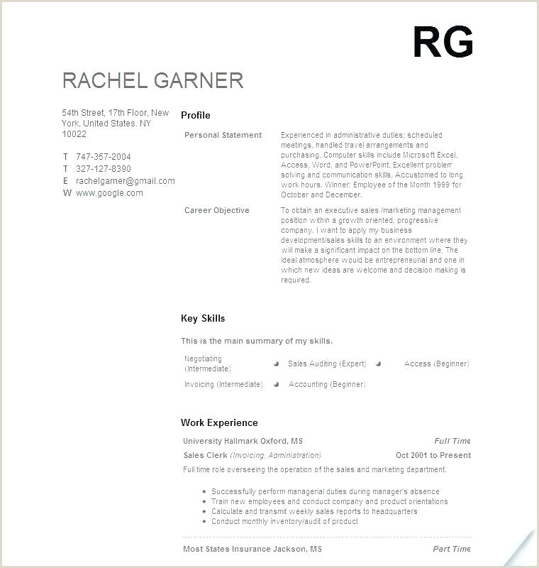 High School Student Resume Templates No Work Experience For