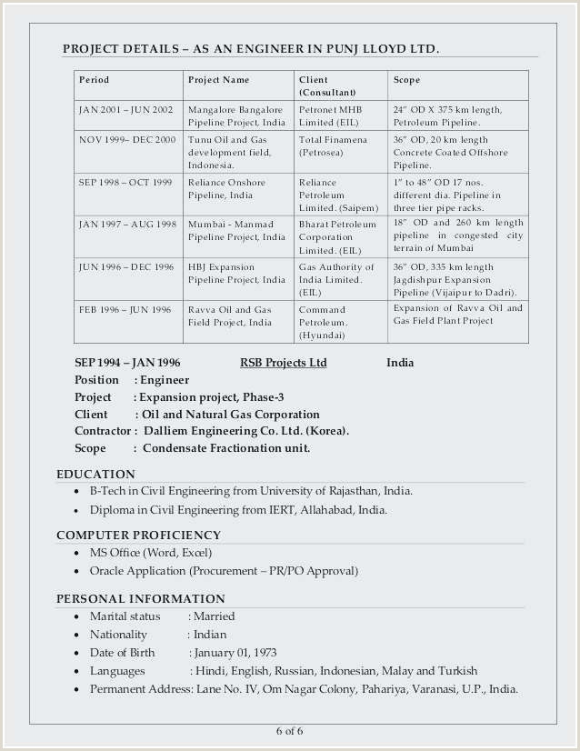 Standard Cv format for Mechanical Engineers Sample Mechanical Engineering Resumes Examples Mechanical